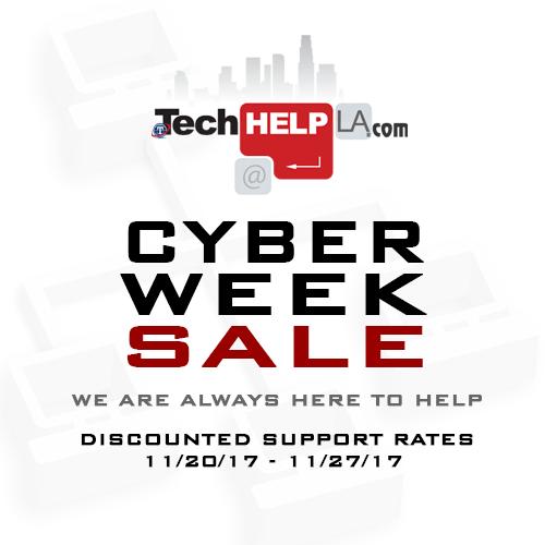 Tech Help LA - Thanksgiving Cyber Week Sale
