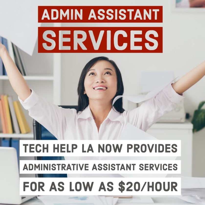Tech Help LA Administrative Assistant Services Los Angeles
